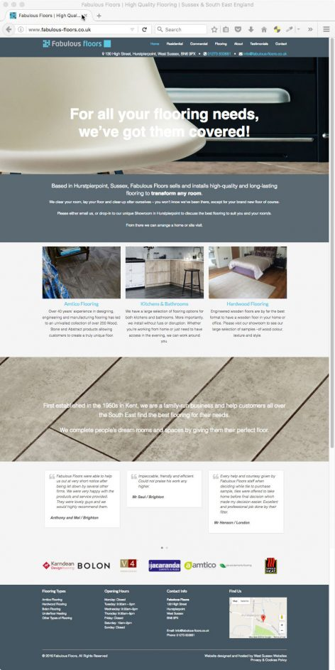 Fabulous Floors Website
