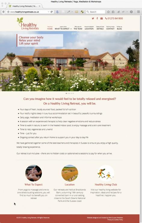Healthy Living Retreats Website
