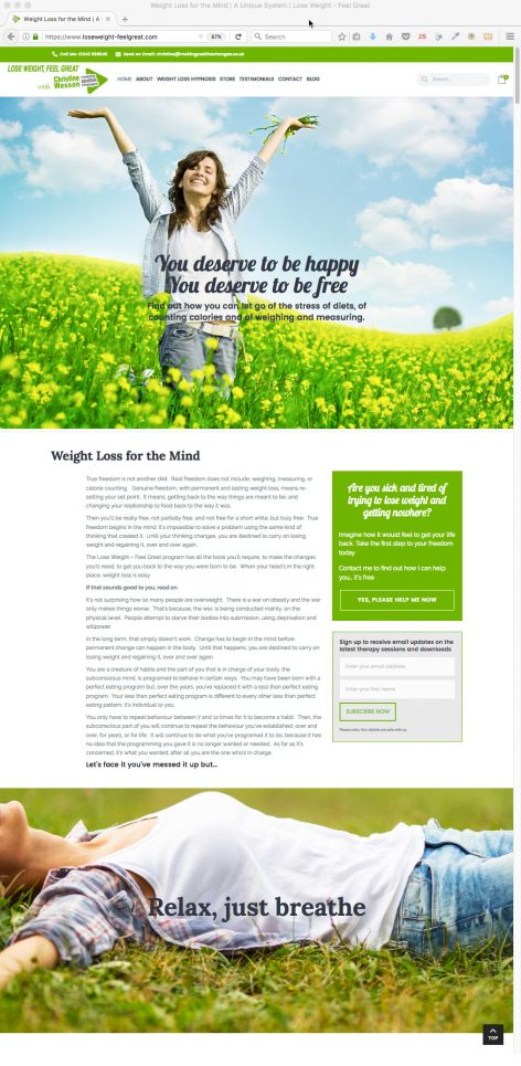 LoseWeight Feel Great website