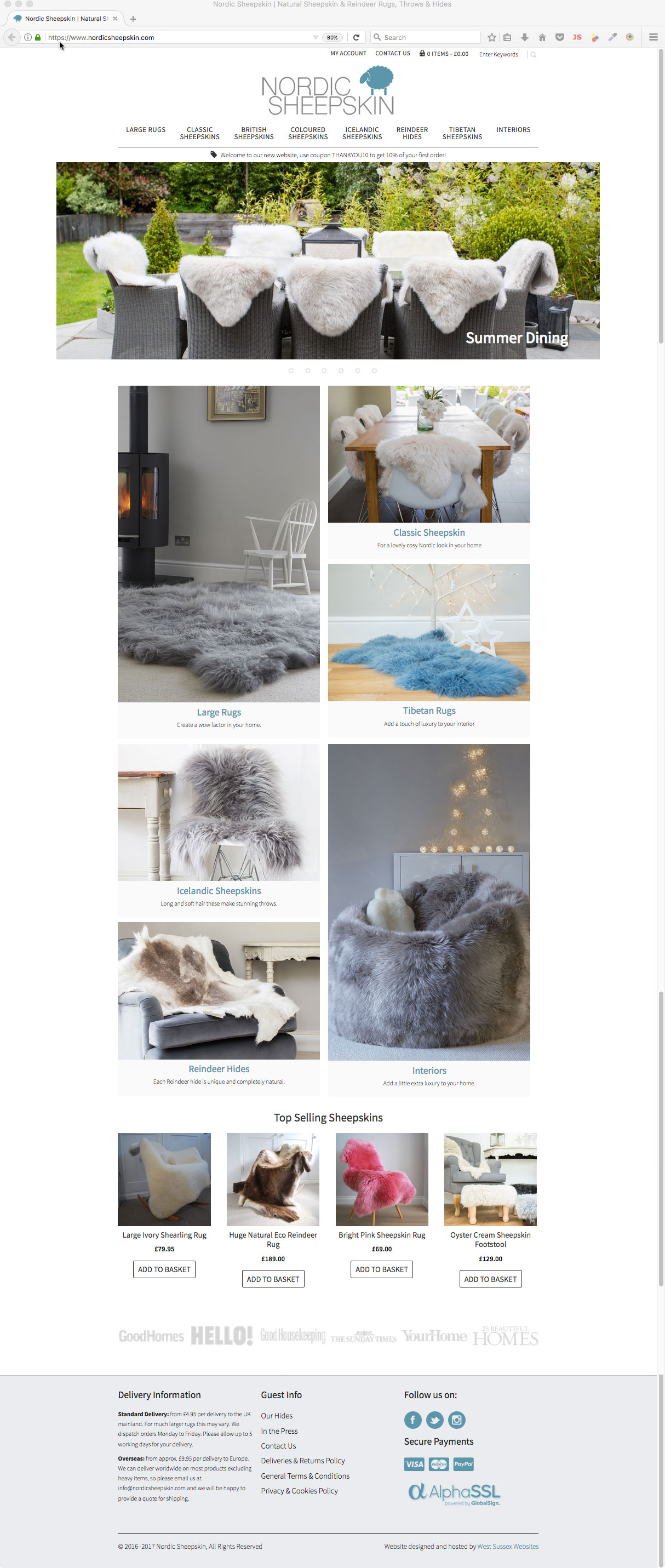 Nordic Sheepskin Website
