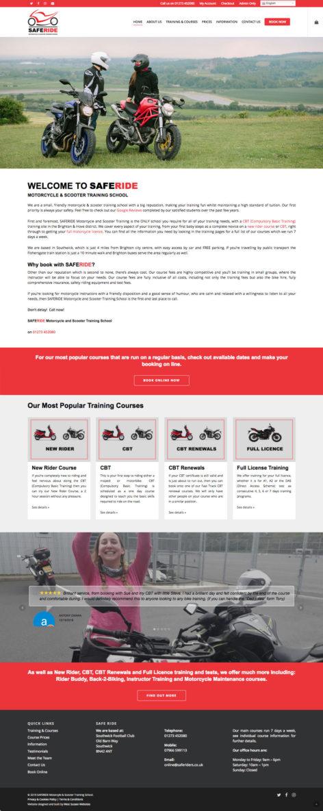SAFERIDE website
