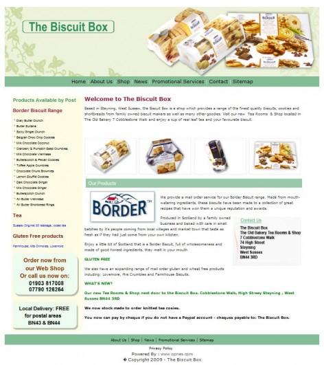 The Biscuit Box Website