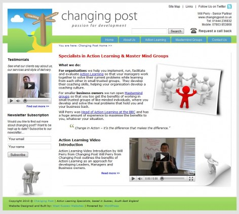 Changing Post Website