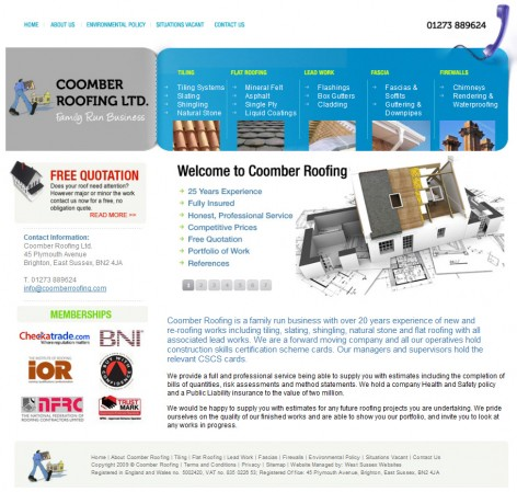 Coomber Roofing Website