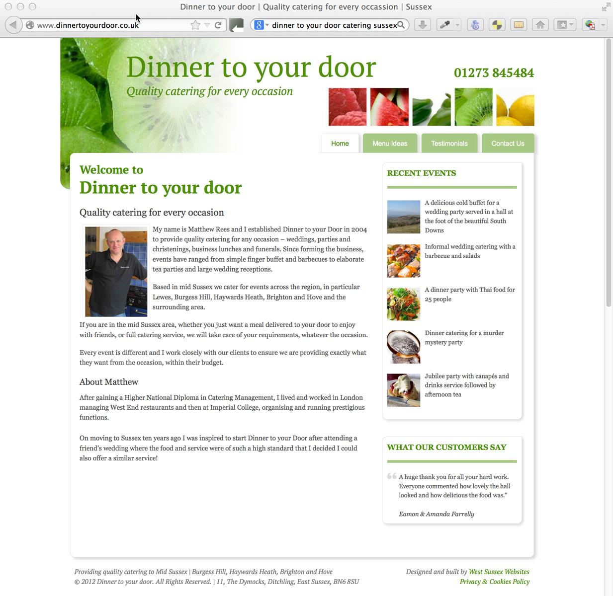 Dinner To Your Door Www Dinnertoyourdoor Co Uk