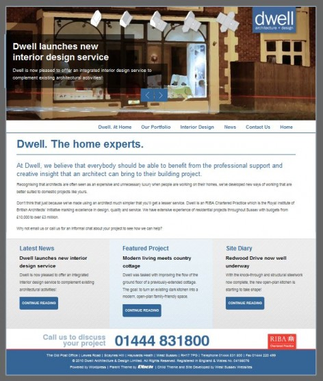 Dwell Architecture Website