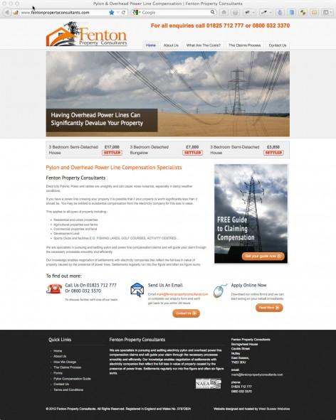 Fenton Property Consultants website