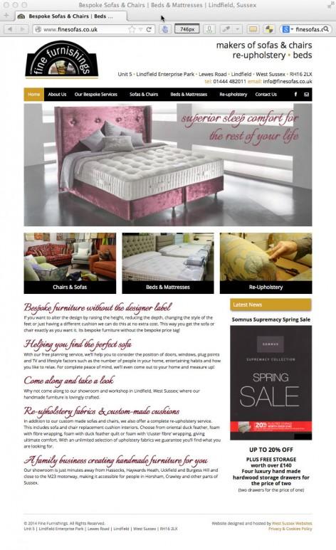 Fine Furnishings Website