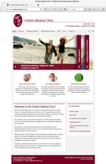 Holistic Medical Website Screenshot