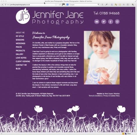 Jennifer Jane Photography Website