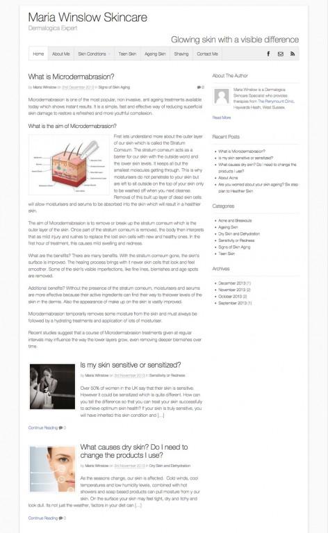 Maria Winslow Skincare Blog
