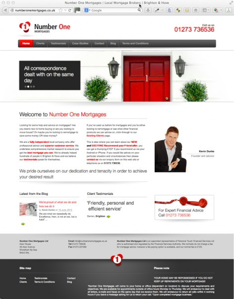 Number One Mortgages Website