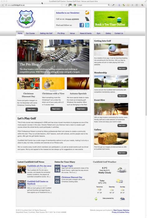 Cuckfield Golf Website