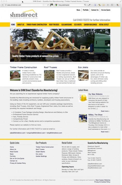 SHM Direct Website