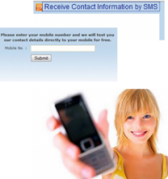 Receive details by SMS
