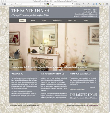 The Painted Finish Website